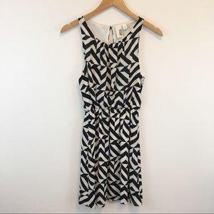 Francesca's bird cage label black and white dress